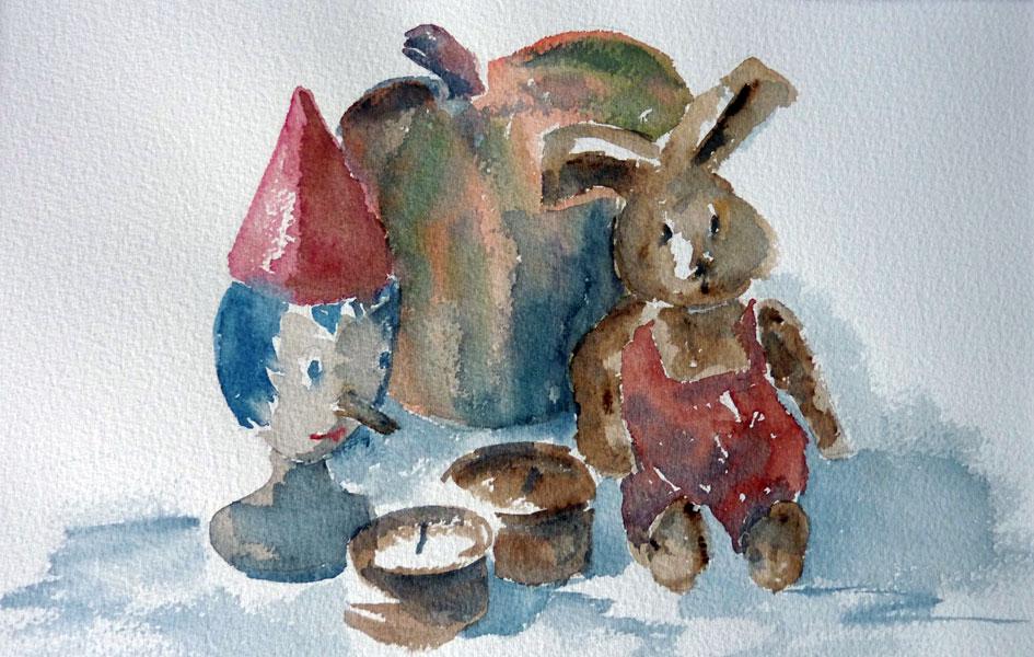 Pinnocchio en aquarelle