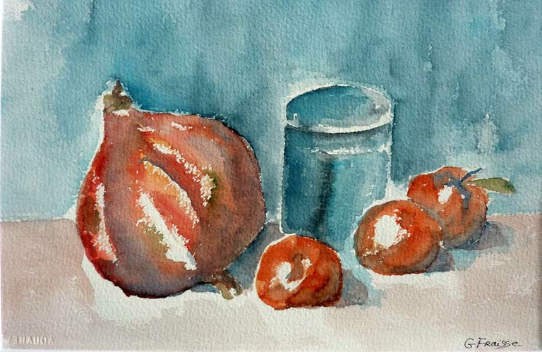 Nature morte en aquarelle