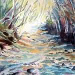 Rivière en aquarelle