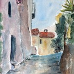 Rue de Seguret en aquarelle